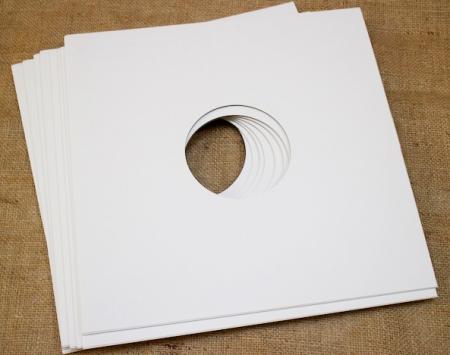 """Конверт внешний картонный белый для пластинок 12"""""""