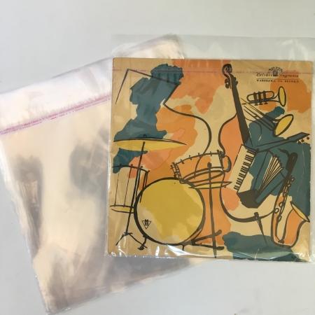 """Закрывающиеся пакеты конверты наружные для пластинок винила10 10"""" с клапаном 25 микрон 100шт"""