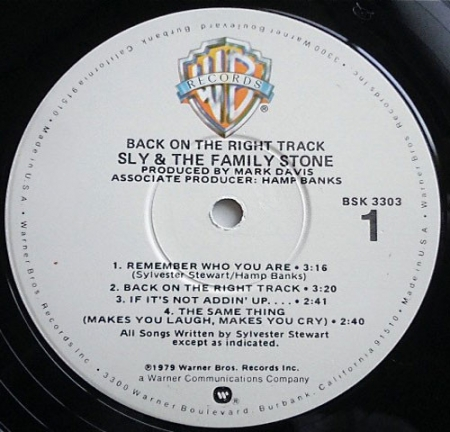 Sly & The Family Stone - Back On The Right Track (US 1979)