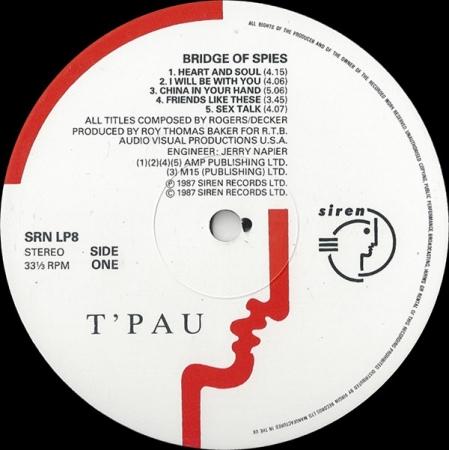 T'Pau - Bridge Of Spies (UK 1987)