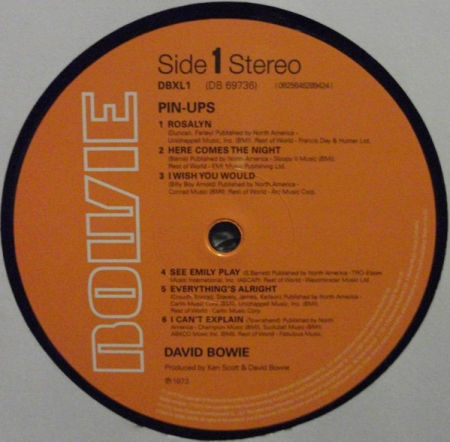 Bowie - Pin Ups (UK & Europe 26 Feb 2016)