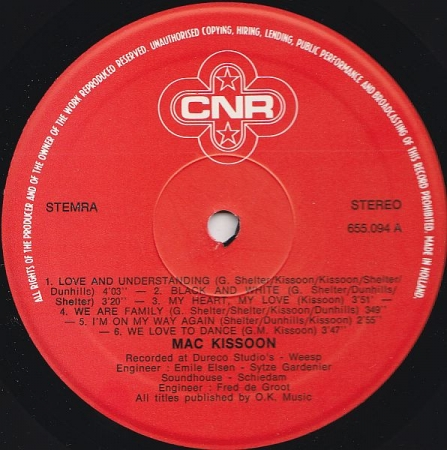 Mac Kissoon ‎– Mac Kissoon (Netherlands 1979)
