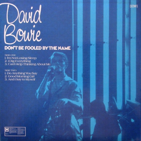 David Bowie - Don't Be Fooled By The Name (UK 1981)